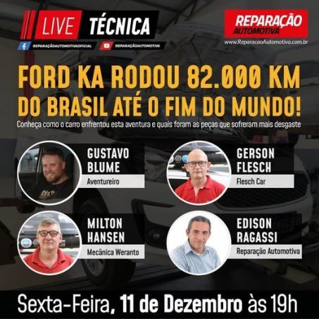 Live Técnica Ford Ka rodou mais de 2000km.