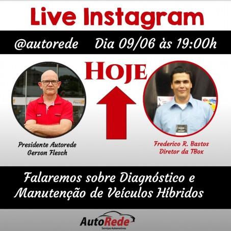 Live online pelo instagram @autorede: Sobre Carros Híbridos